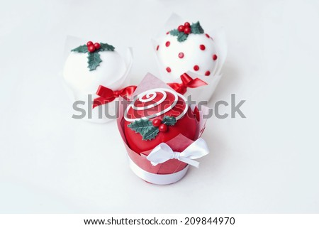 Sugar Paste Xmas Decoration on white background