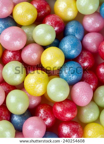 sugar pearls isolated on white - stock photo