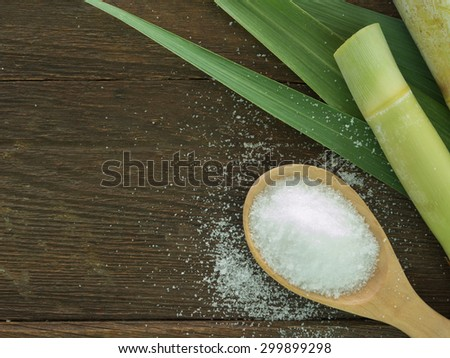 Sugar produced from sugar cane. Agriculture Industry concept - stock photo