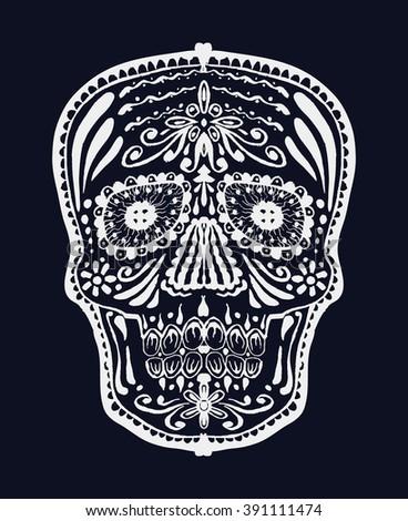 Sugar skull. Jpeg version - stock photo