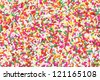 Sugar sprinkle dots, decoration for cake and bekery - stock photo