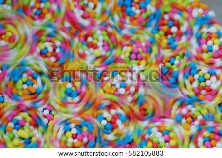 Sugar sprinkle dots, decoration for cake and bekery, a lot of sprinkles as a background (Blurred Background)