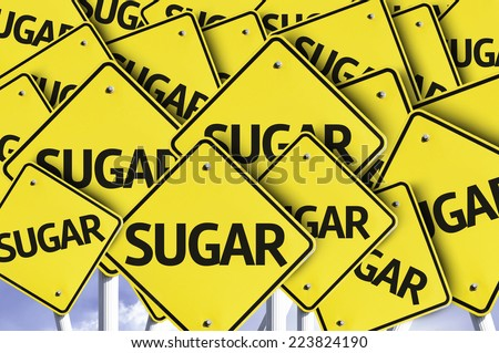 Sugar written on multiple road sign - stock photo