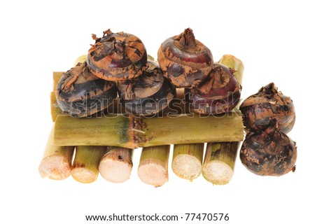 Sugarcane And Water Chestnuts, A Combination For Cooling Drink - stock photo