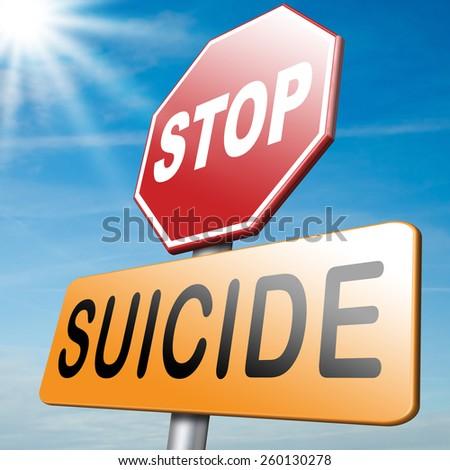 suicide prevention campaign - stock photo
