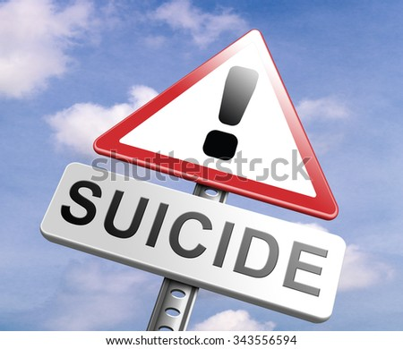 suicide prevention campaign to help suicidal people - stock photo