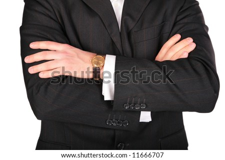 Suit part with hands
