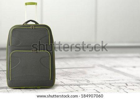 suitcase and space for text  - stock photo