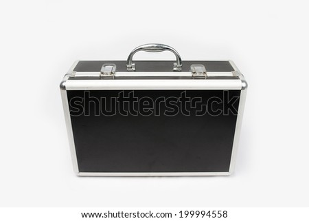 Suitcase for cosmetics isolated on white background