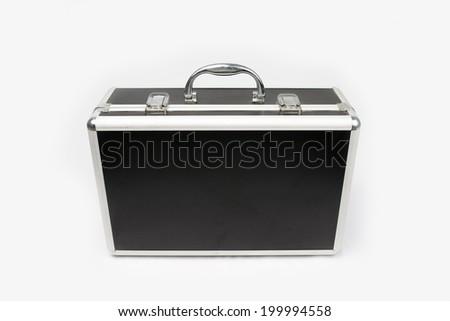 Suitcase for cosmetics isolated on white background  - stock photo