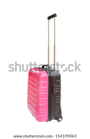 suitcase isolated on white background (with clipping path)