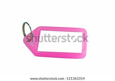 suitcase label - stock photo