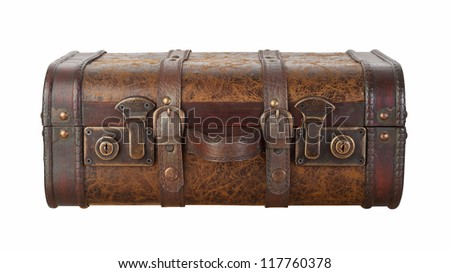 Suitcase Latches Isolated with clipping path on a white background - stock photo