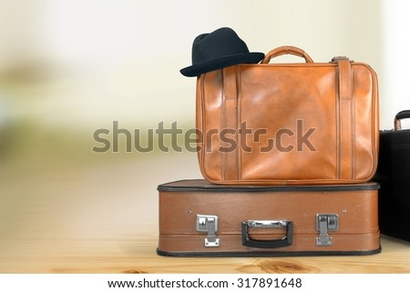 Suitcase Luggage. - stock photo