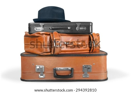 Suitcase, Luggage, Retro Revival. - stock photo