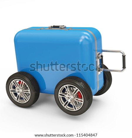 Suitcase With Wheels Stock Images, Royalty-Free Images & Vectors ...