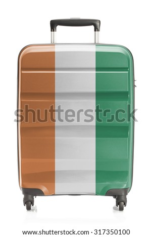 Suitcase painted into national flag series - Ivory Coast