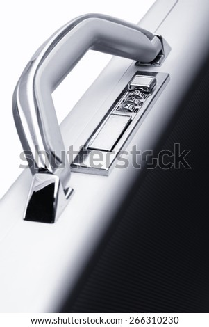 Suitcase's code lock. - stock photo