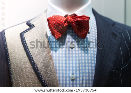 Suite on the mannequin  - stock photo