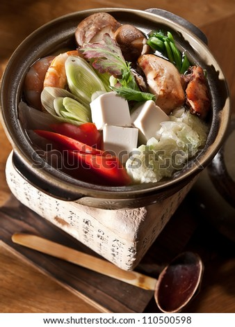 sukiyaki - stock photo
