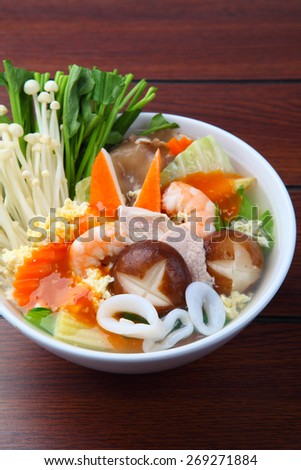 sukiyaki, asian cuisine - stock photo