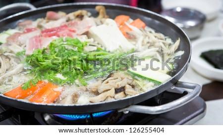 Sukiyaki  Korea Food - stock photo