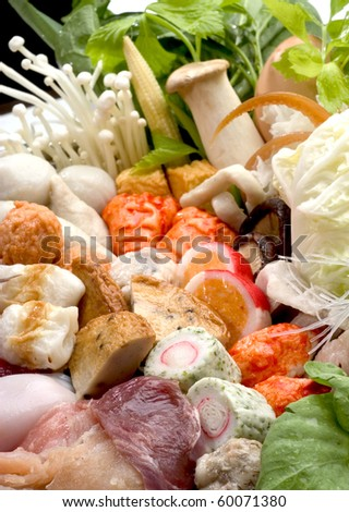 Sukiyaki mix vegetable and Seafood