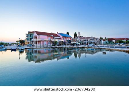 Sukosan adriatic village waterfront view, tourist destination of Croatia - stock photo