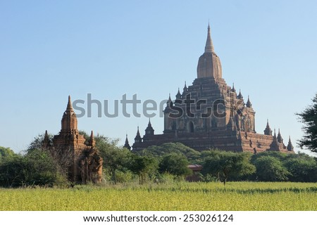 Sulamani Buddhist Temple in Bagan, Myanmar - stock photo