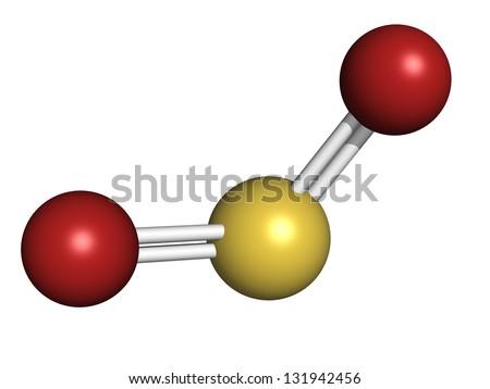 Sulfur Dioxide Sulphur Dioxide So 2 Gas Stock Illustration 131942456