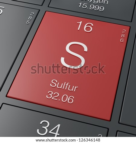 Sulfur element from periodic table