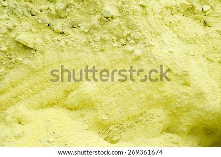 Sulfur Storage Area, Background of Sulphur Texture - stock photo