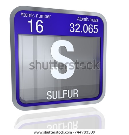 Sulfur symbol square shape metallic border stock illustration sulfur symbol in square shape with metallic border and transparent background with reflection on the floor urtaz Image collections