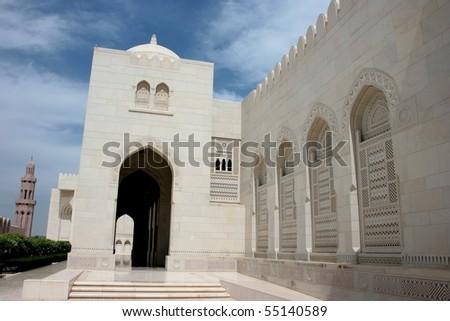 Sultan Qaboos Grand Mosque, Muscat, Oman - stock photo