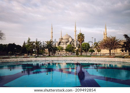 Sultanahmet Blue Mosque, Istanbul, Turkey - stock photo