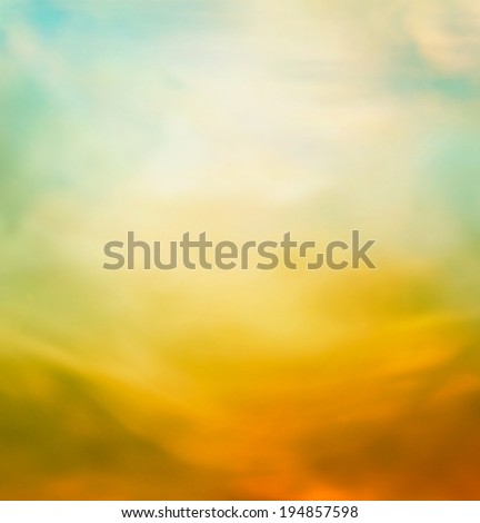 Summer abstract nature background with blue sky in the back. Summer or autumn sunset - stock photo
