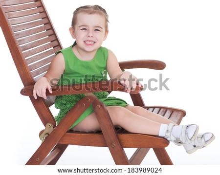 summer, baby, girlie, lass, female child, lassie, concept-lovely little girl and sea shell isolated over white