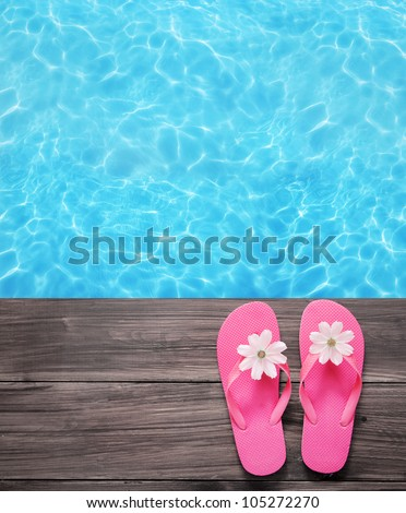 Summer background - stock photo