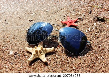 Summer background, Beach sand - stock photo