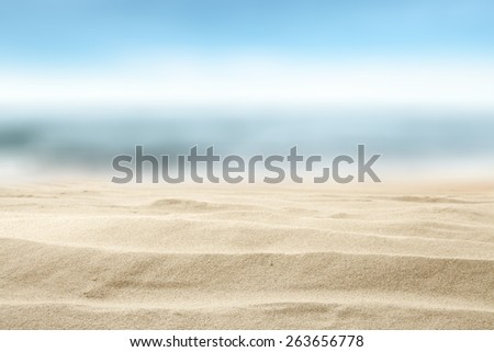 summer background of sand and sky  - stock photo