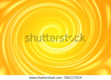 summer background swirl with orange & yellow hot colors - stock photo