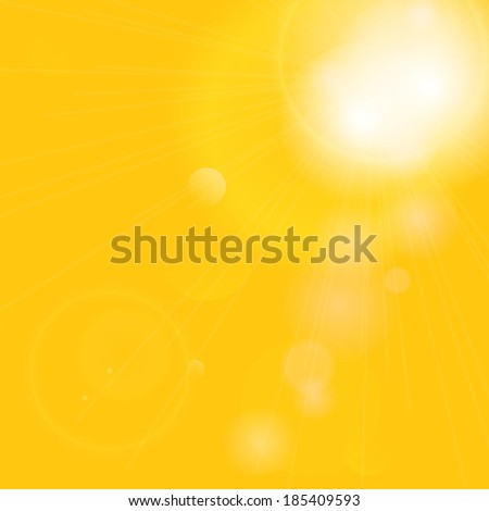 Summer background with a magnificent summer sun burst with lens flare.