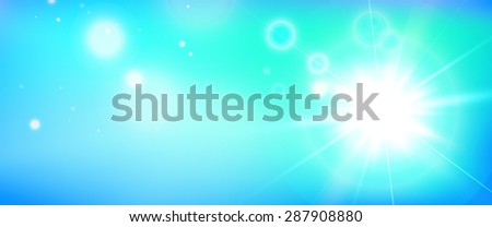 Summer background with a magnificent sun burst with lens flare. JPG version.