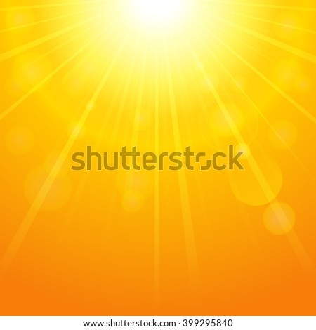 Summer background with bright sun