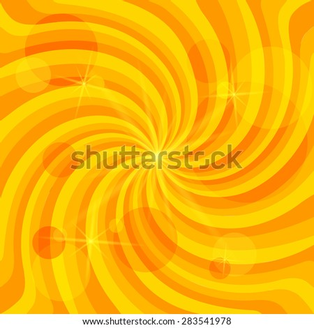 Summer background with orange yellow rays summer sun light burst. Hot swirl with space for message. Gorgeous graphicillustration for design presentation, brochure layout page, cover book & magazine - stock photo