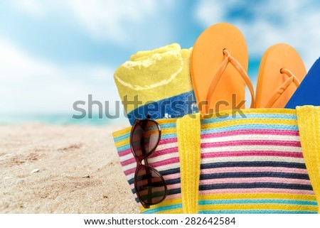 Summer, bag, isolated.