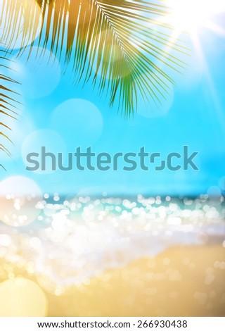 summer beach background  - stock photo