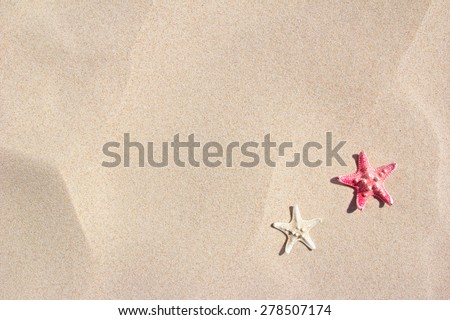 summer beach background - stock photo
