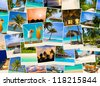 Summer beach maldives images - nature and travel background - stock photo