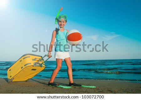Summer beach, summer holiday - travel destination, beach resort - stock photo